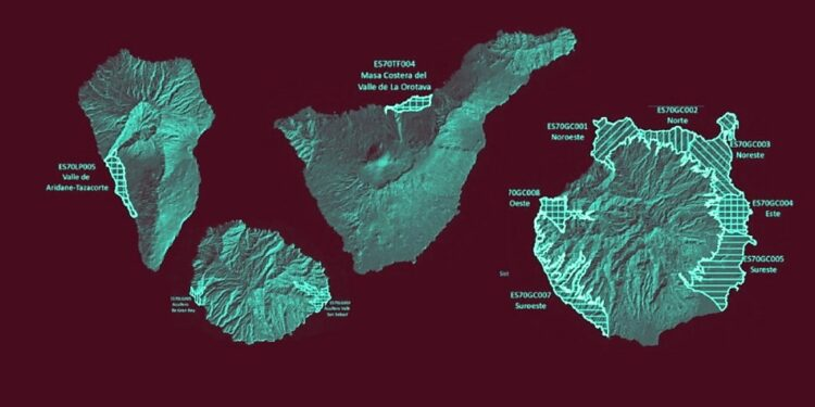 Estas son las zonas canarias con sus acuíferos contaminados por nitratos de origen agrario